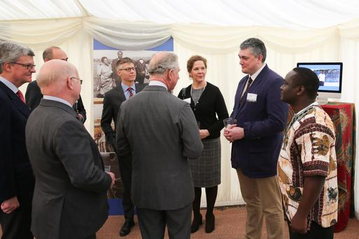 Simon Doherty (second from right), a vet from Ballygowan, meets Prince Charles during an official charity visit by the prince to Bath