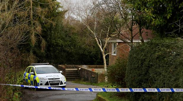 The scene in Benenden, Kent, following the death of supply teacher Caroline Andrews