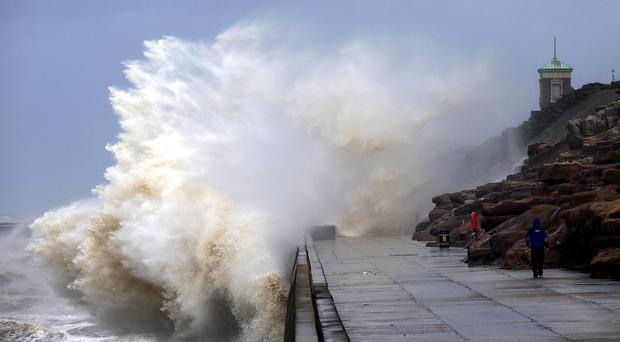 Gales and high tides are expected around the coast of Britain as a result of Storm Isobel