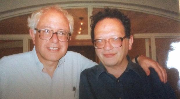 Larry Sanders, right, with his brother and presidential hopeful Bernie
