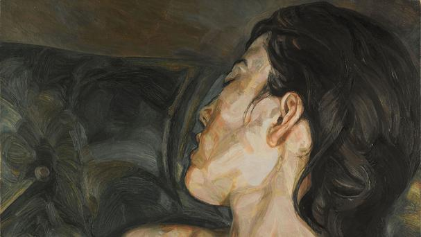 Pregnant Girl a painting by Lucian Freud which sold for more than 16 million pounds at auction (Sotheby and Otilde's)