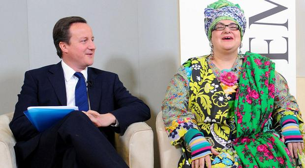 Prime Minister David Cameron with Kids Company founder Camila Batmanghelidjh