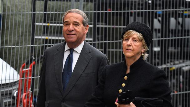 Lady Brittan pictured with her late husband