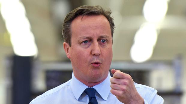 Boosted: David Cameron
