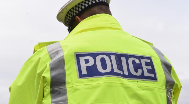 A teen has been left in a coma after an accident involving a PSNI car yesterday morning