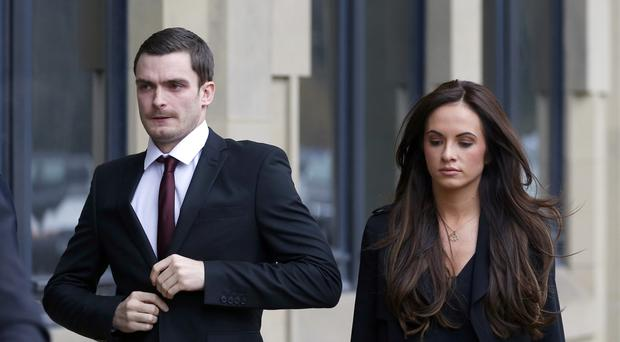 Adam Johnson and his partner Stacey Flounders
