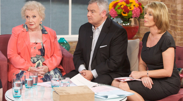 Denise Robertson on the This Morning couch with Eamonn Holmes and Ruth Langsford