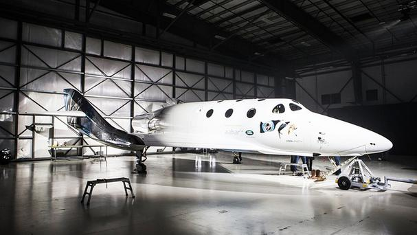 Virgin Galactic unveil the new SpaceShipTwo as the company pushes ahead in the race to send passengers into space.
