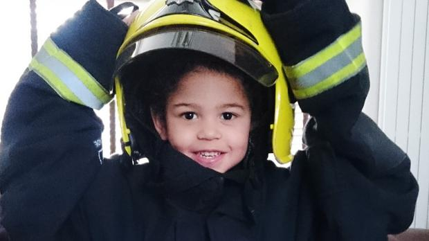 Four-year-old Tommy Simpson has been diagnosed with leukaemia, with his parents launching an urgent appeal to find a stem cell donor for him (London Fire Brigade/PA)