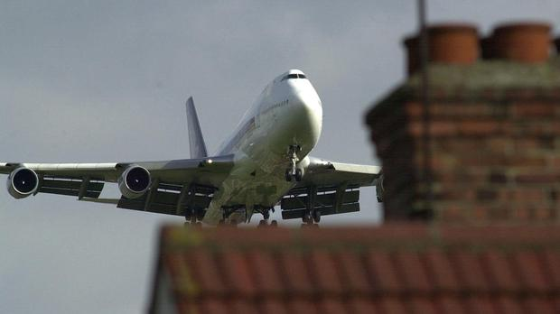 Residents were exposed to noisy aircraft at a rate of up to one per minute, it is claimed