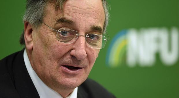 Farmers are under pressure from everything from supermarket price wars to extreme weather, NFU president Meurig Raymond has said