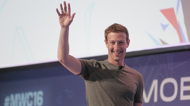 Facebook chief executive Mark Zuckerberg at the Mobile World Congress wireless show in Barcelona (AP)