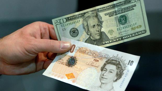 The pound first hit seven-year lows against the dollar on Monday