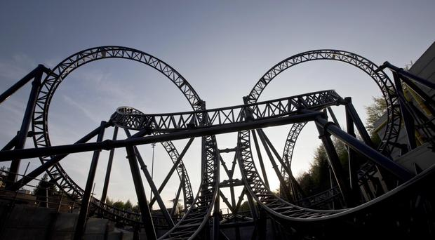 The Smiler rollercoaster ride at Alton Towers resort in Staffordshire