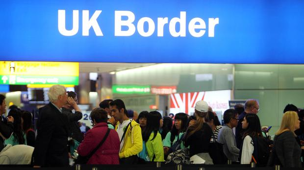 It is the first time the key measure of immigration has dipped since the end of 2013