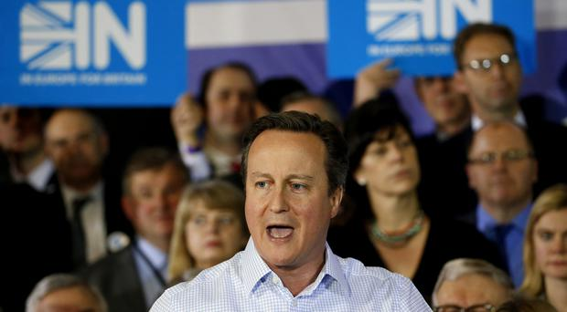 David Cameron is taking the IN campaign to Wales