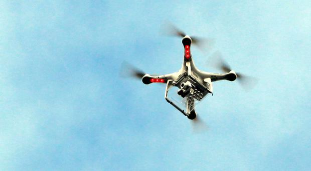 The drone was flown against Civil Aviation Authority regulations, officials said (PA/file)