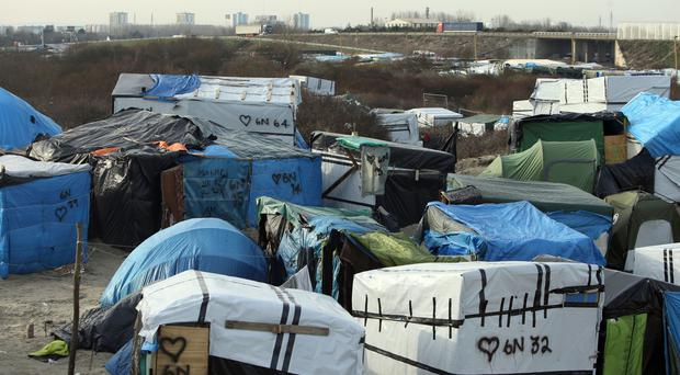 Tents in the Jungle camp in Calais, France