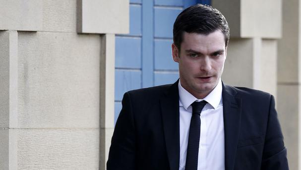 Footballer Adam Johnson arrives at Bradford Crown Court where he is accused of sexual activity with a child