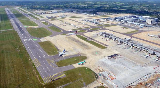 No flights have been able to land or take off after a spillage on the runway at Gatwick Airport