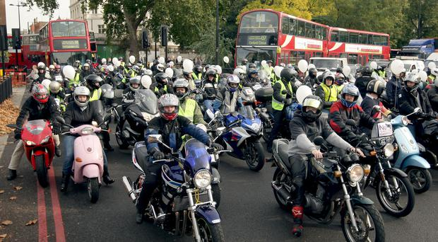 There were 36 deaths involving motorbikes and scooters in the capital last year
