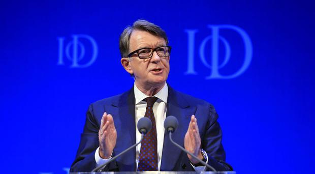 Lord Mandelson stressed his support for EU membership