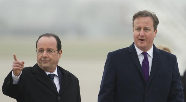 Francois Hollande and David Cameron will hold talks in Amiens at an Anglo-French summit