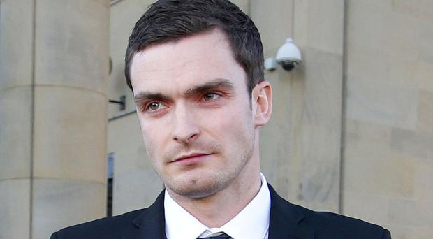 Adam Johnson who was sacked by Premier League Sunderland after he admitted a charge of grooming and one of sexual activity with a 15-year-old girl.