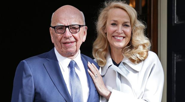 Media mogul Rupert Murdoch and Jerry Hall leave Spencer House