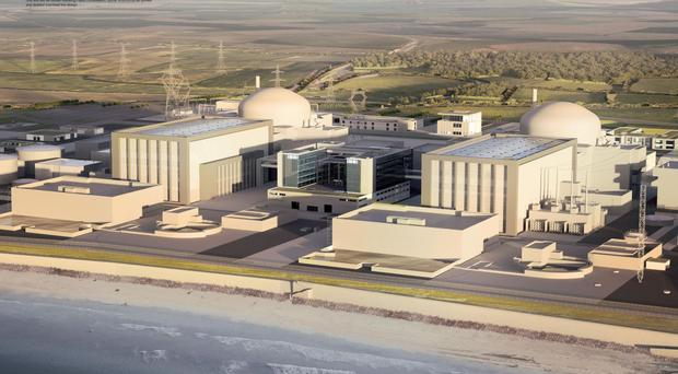 Artist's impression of the how the new Hinkley Point C station will look (EDF/PA)