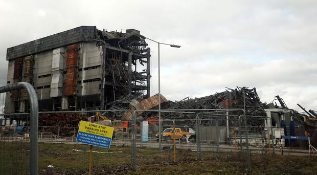 The scene at Didcot power station