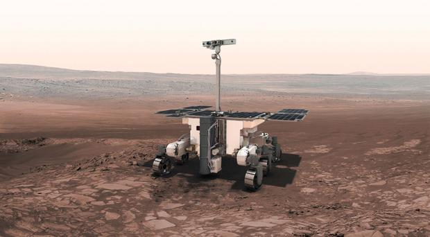 An artist's impression of an ExoMars robot, as scientists make final preparations for the European space mission in search of life on Mars (ESA/PA)