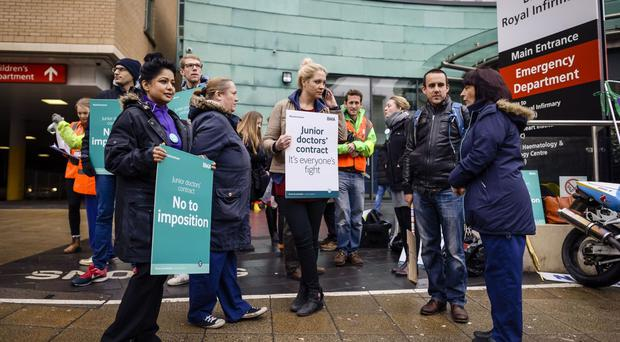 Junior doctors have staged strikes over the imposition of a new contract