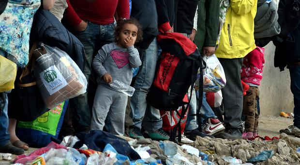Some of the migrants and refugees arriving daily into Europe from Syria