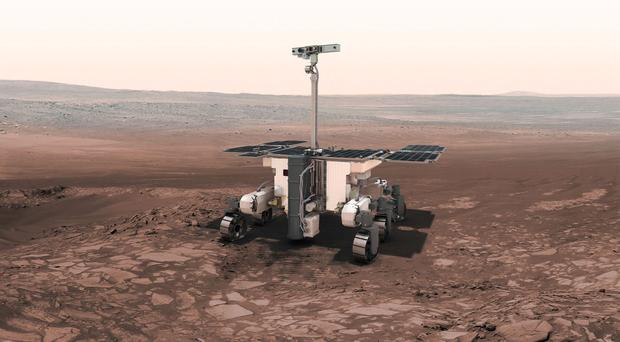An artist's impression of an ExoMars robot (European Space Agency)
