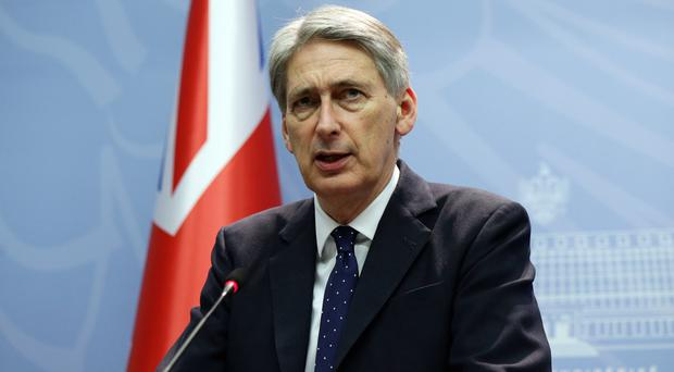 Philip Hammond said the withdrawal of some Russian troops from Syria could be