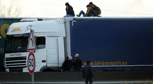 Authorities can issue an on-the-spot penalty of up to £2,000 on hauliers for every stowaway discovered