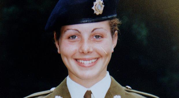 Private Cheryl James died in 1995