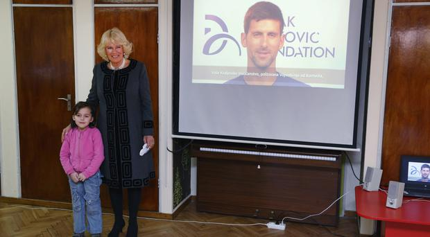 The Duchess of Cornwall visits Zvecanska children's home in Belgrade