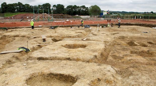 Work at a 2,500-year-old settlement discovered in Pocklington, East Yorkshire