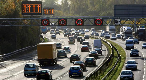 The existing ALR schemes are on sections of the M25, M1 and M6