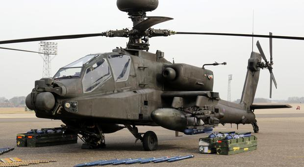 The row had the potential to threaten the Apache attack helicopter squad's frontline capabilities in Afghanistan, it was claimed