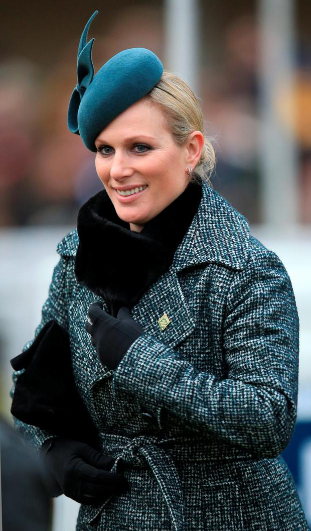 Zara Phillips smiles at Cheltenham Gold Cup Day