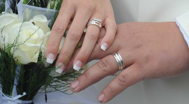 More than a third (34.7%) of people who are married or in a civil partnership rate their life satisfaction as either 9 out of 10 or 10 out of 10, according to data from the ONS