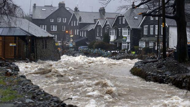 Glenridding in Cumbria suffered severe damage from floods over the winter