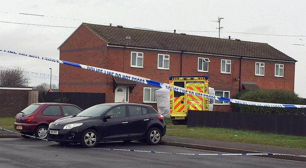 Police at the scene in Byland Close, Redcar