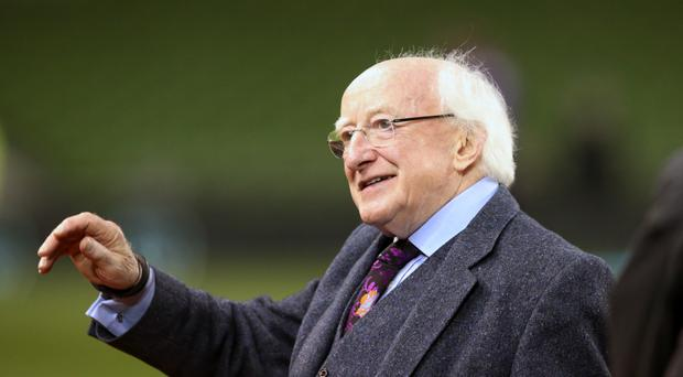 President Michael D Higgins will lay a wreath at the Garden of Remembrance