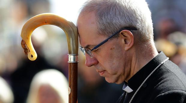 The Archbishop of Canterbury has urged people not to give in to fear