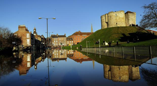 York was badly affected by floods