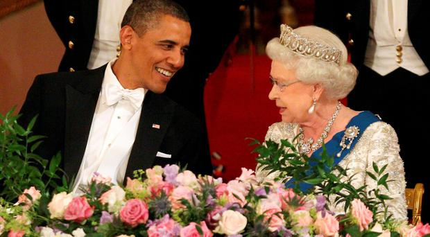 The Queen with President Obama at Buckingham Palace